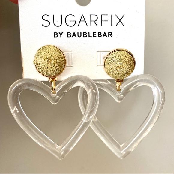 Sugarfix by Baublebar heart dangle earrings.